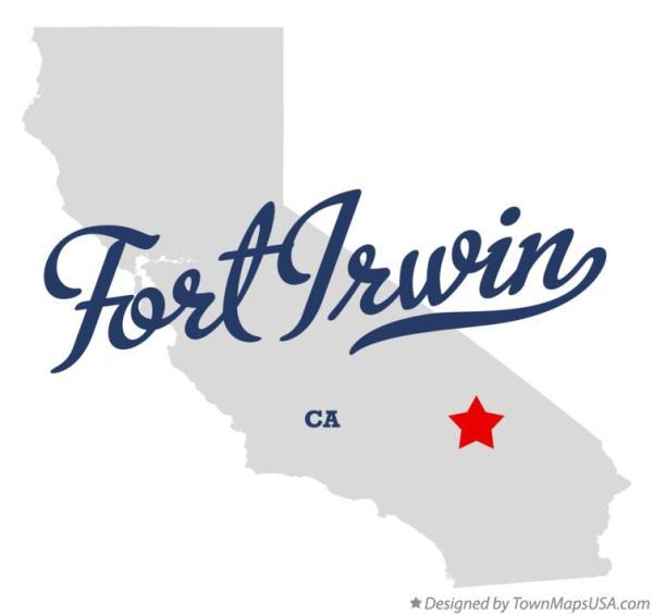 Map of Fort Irwin CA California