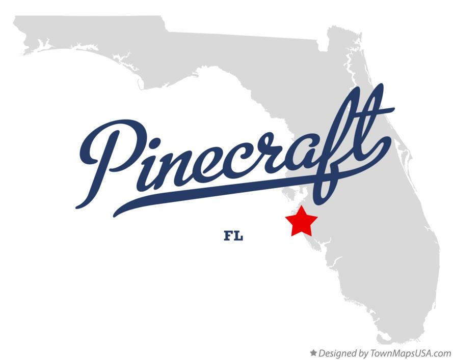 Map of Pinecraft FL Florida