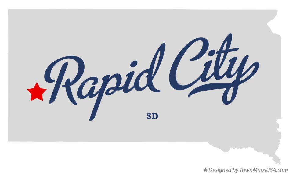 Map of Rapid City South Dakota SD