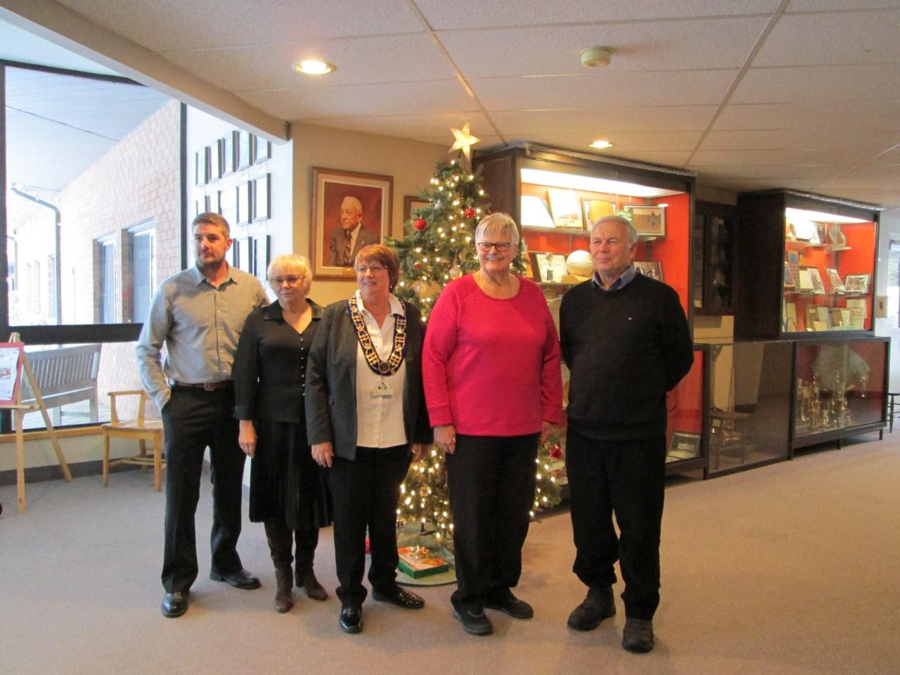 From left to right: Councillor Michael Rickward, Councillor Cheryl Philip, Mayor Carol Ballantyne, Councillor Elizabeth Stermsek, Councillor Paul Ziraldo
