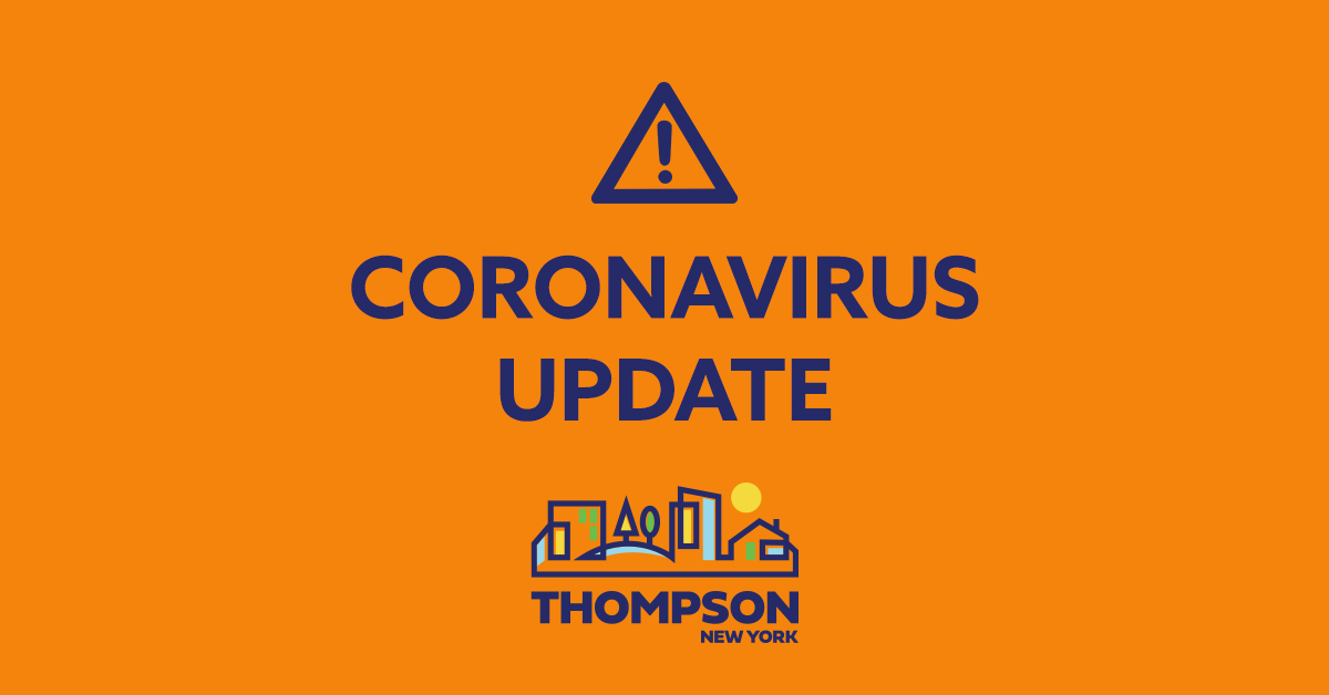 Important Coronavirus Update From Town Supervisor Bill Rieber ...