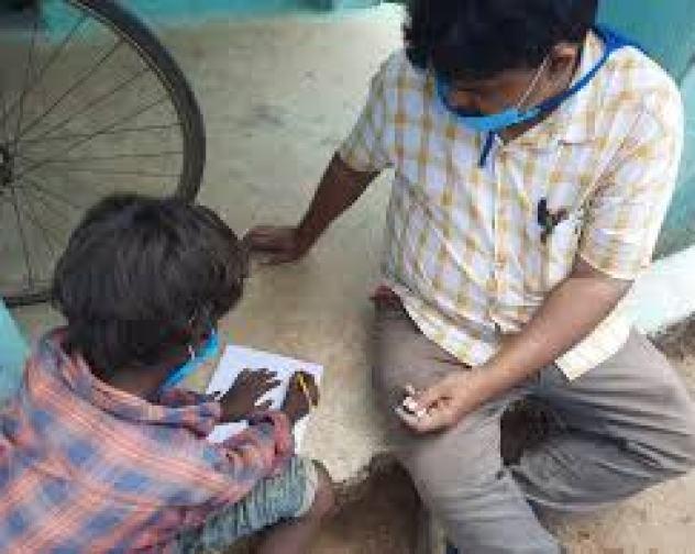 Tangrain School teachers visit students' home to teach them