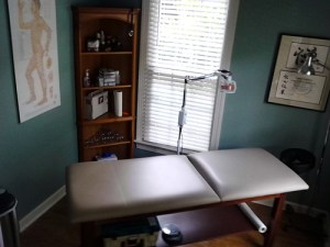 Treatment room at Townsend Acupuncture