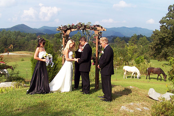 Beautiful Wedding in our Arbor Setting