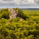 The ruins of Calakmul in Campeche, Mexico