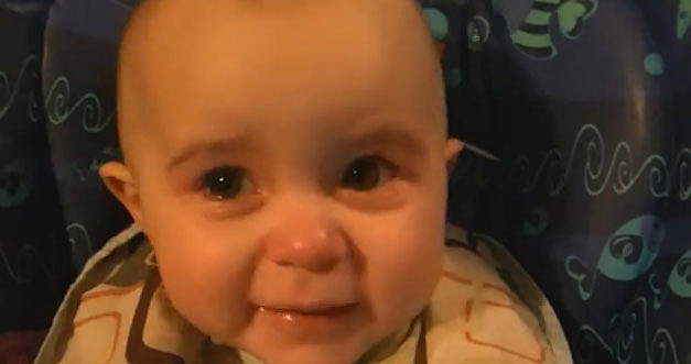 baby cries when his