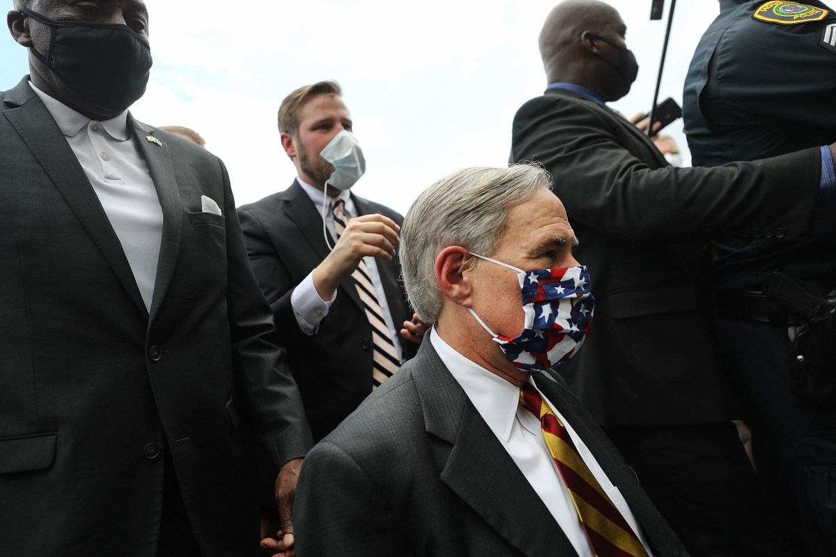 Texas Governor Issues Texas Face Mask Order