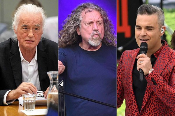 Robbie Williams Reportedly Mocking Jimmy Page