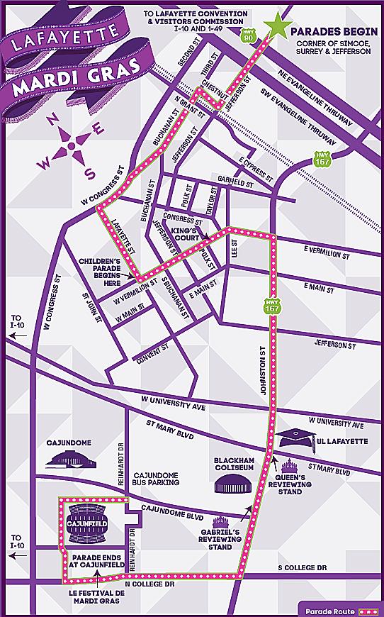 Mardi Gras Parade Routes : mardi, parade, routes, Mardi, Parade, Schedule, Acadiana