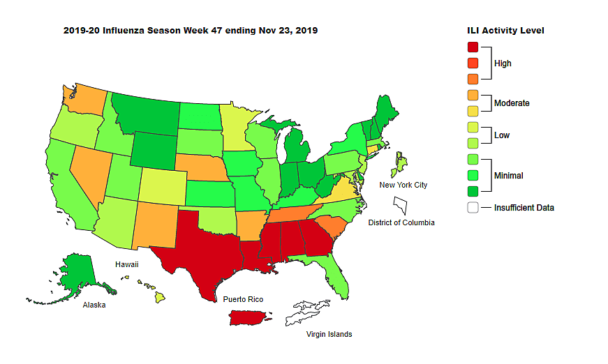 Flu Activity Remains High in Louisiana