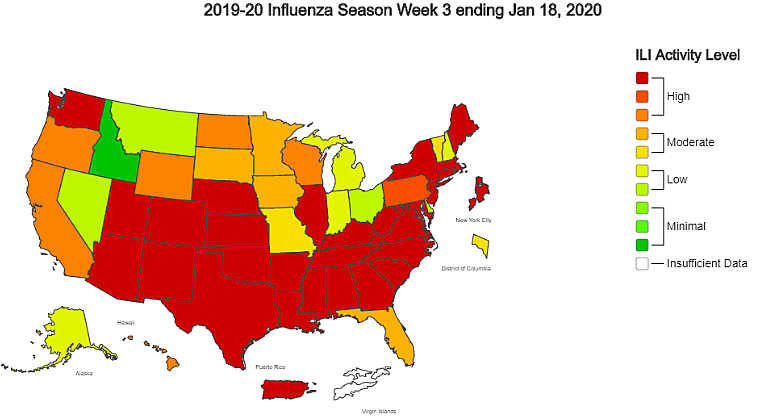 Flu Activity Remains High in Louisiana and Acadiana