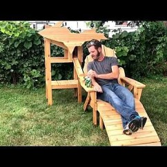 Michigan Adirondack Chair Chairite This Also Dispenses Cold Beer Video