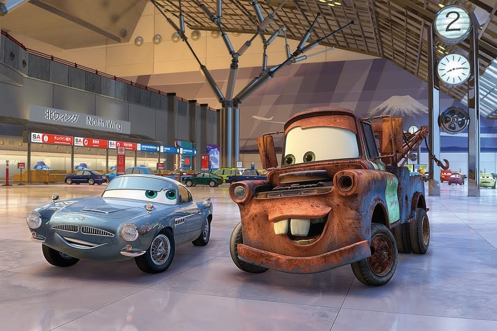 the characters from cars