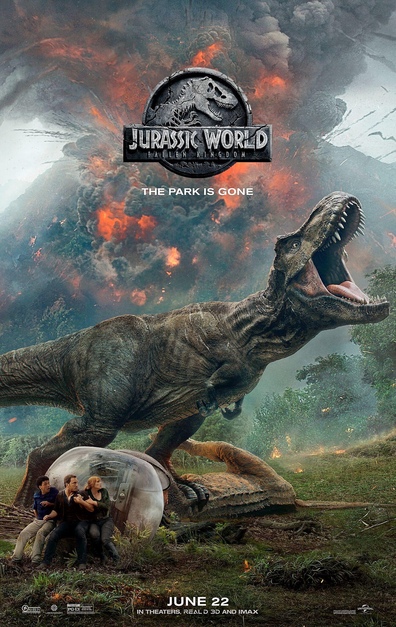 Jurassic World 2 : Fallen Kingdom : jurassic, world, fallen, kingdom, T-Rex, Livid, 'Jurassic, World, Poster