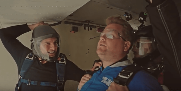 Tom Cruise Forces James Corden To Skydive From 15 000 Feet
