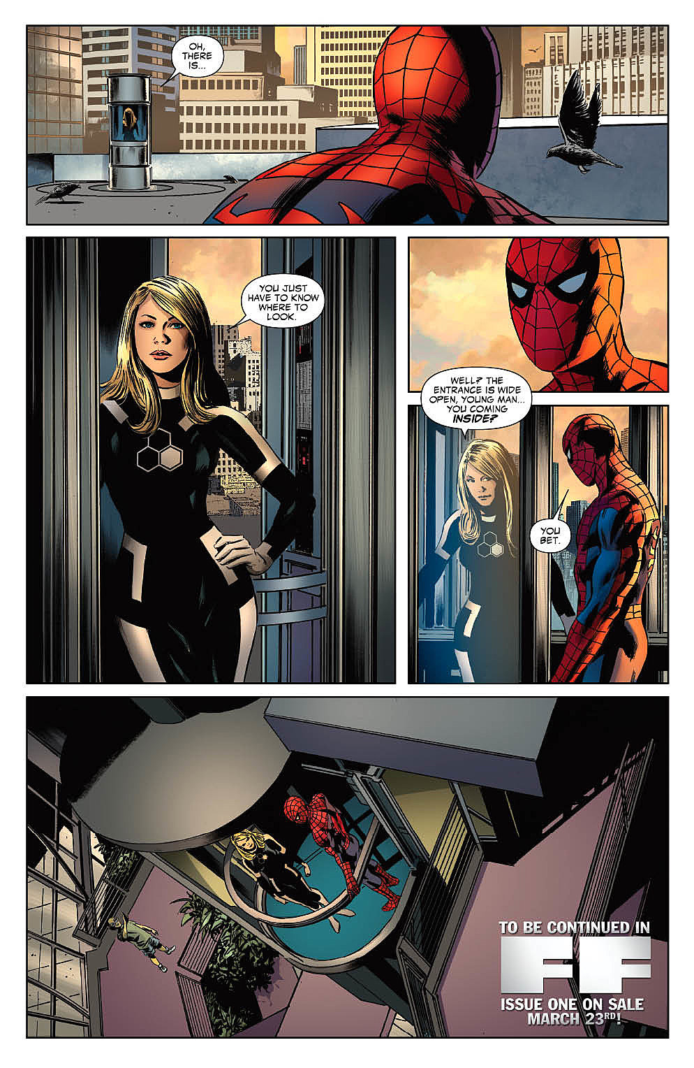 'FF' #1: The Fantastic Four + Spider-Man = The Future Foundation [Preview]