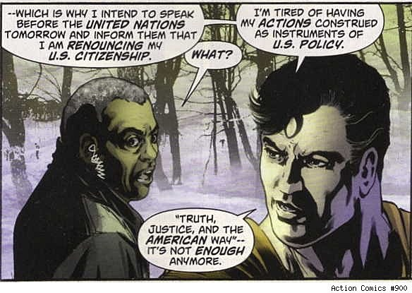 Image result for Superman Renounces His American Citizenship