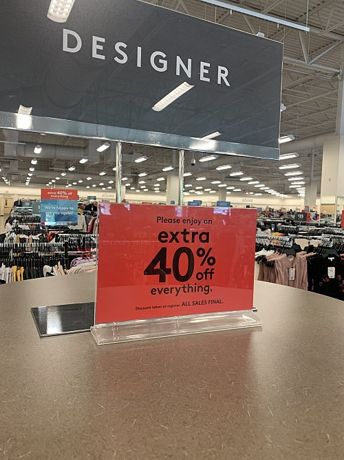 40 off everything at nordstrom rack