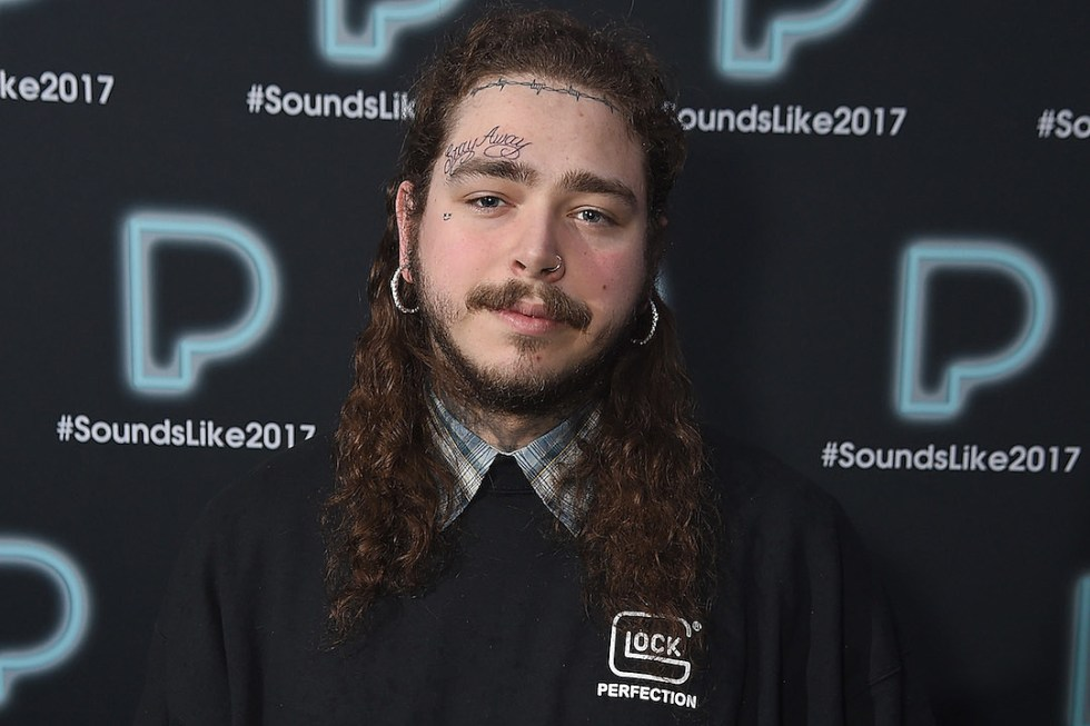 Post Malone Gets A Stay Away Tattoo On His Face Xxl
