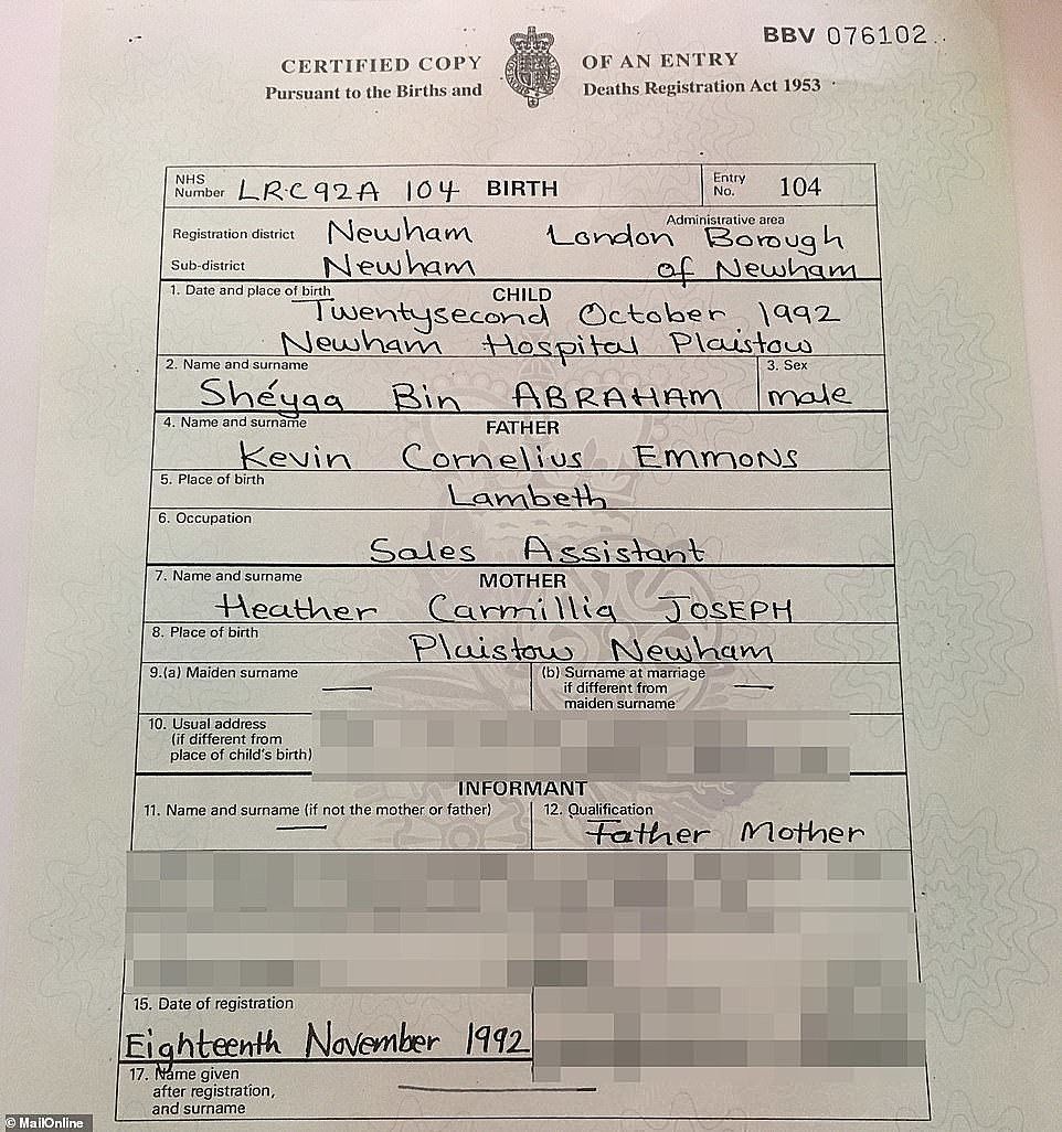 Image result for 21 savage birth certificate
