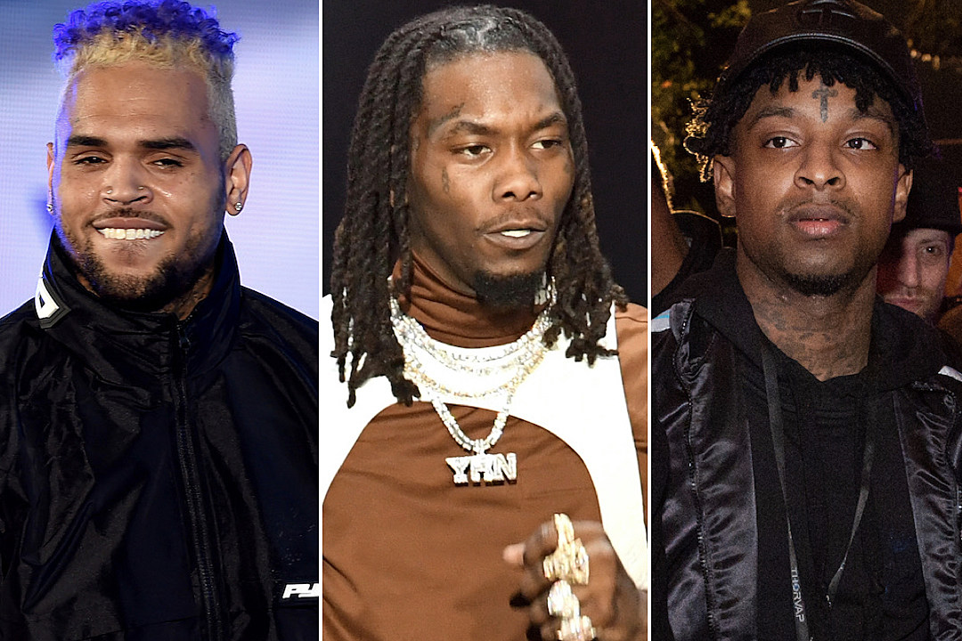 Chris Brown Posts 21 Savage Meme Gets Called Out By Offset Xxl