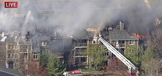BREAKING: Major Fire Destroys West Windsor Apartment Building (image)