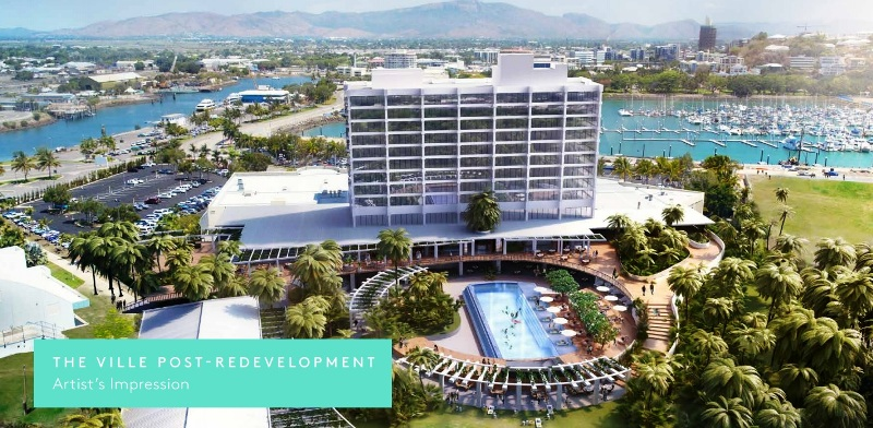 Post redevelopment impression of The Ville Resort-Casino in Townsville North Queensland