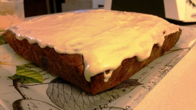 Coconut Banana Blueberry Cake with Icing by Jodie Klaproth