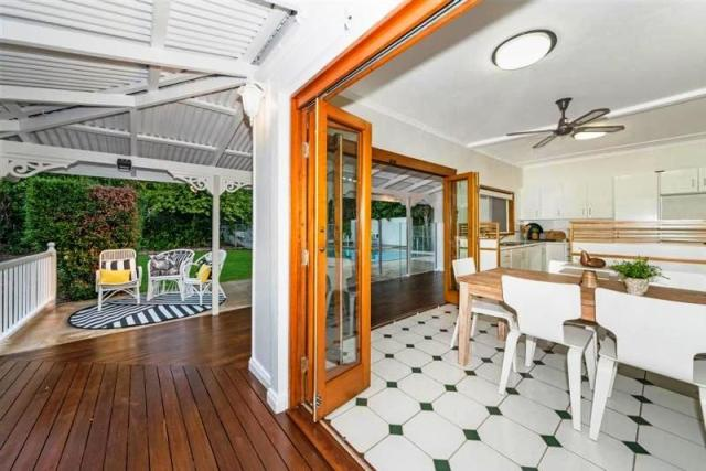 North Ward - Kitchen and dining view from the veranda at 49 Alexandra Street in Townsville