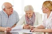 Retired - Elderly Couple planning for retirement living