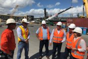 Townsville Port hosts Qld Treasurer Jackie Trad announcing crane and cargo machinery acquisition for the port