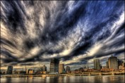 Queensland taxation - Image: Dark clouds over Queensland capital, Brisbane as Property Council express concerns about investor confidence dropping from proposed land and foreign investor taxation.