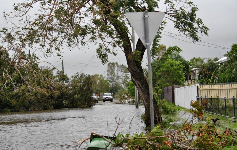 Townsville Home owners threatened by tidal waters