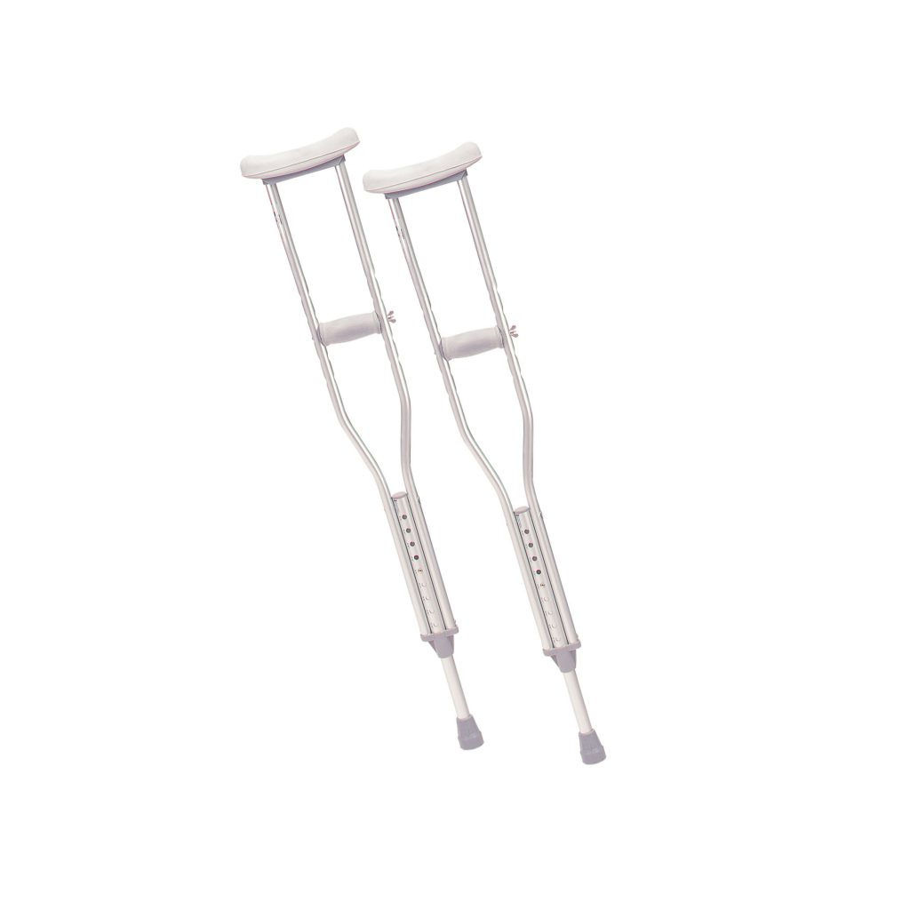 Walking Crutches with Underarm Pad and Handgrip, Youth, 1