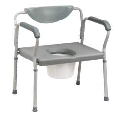 Does Medicare Cover Shower Chairs Black Kitchen Table And Set Bariatric Assembled Commode Holds Up To 650 Lbs