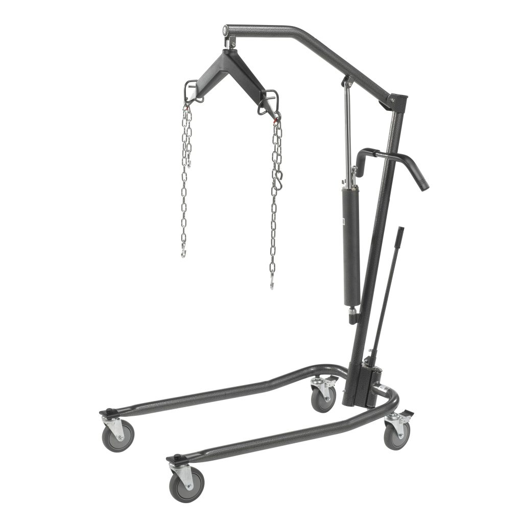 Hydraulic Patient Lift with Six Point Cradle, Silver Vein