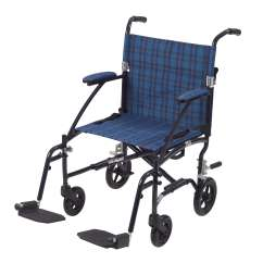 Does Medicare Cover Shower Chairs Dining Chair Covers Kmart Nz Fly Lite Ultra Lightweight Transport Wheelchair Blue