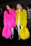 Dress yourself in eccentric and fun furs. They don't have to be real and you don't have to look like Big Bird. But you should have fun and be warm!