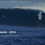 Big Wave Awards 2018 / Big things are happening 9-15-17