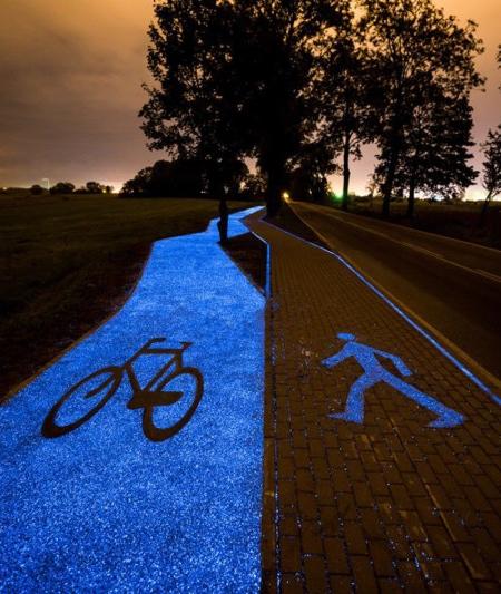 Illuminated Bicycle Path
