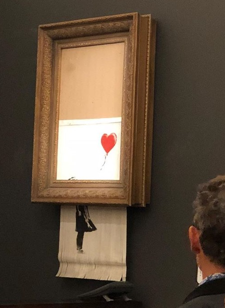 Banksy Painting Shreds Itself