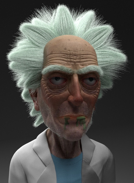 Realistic Rick and Morty