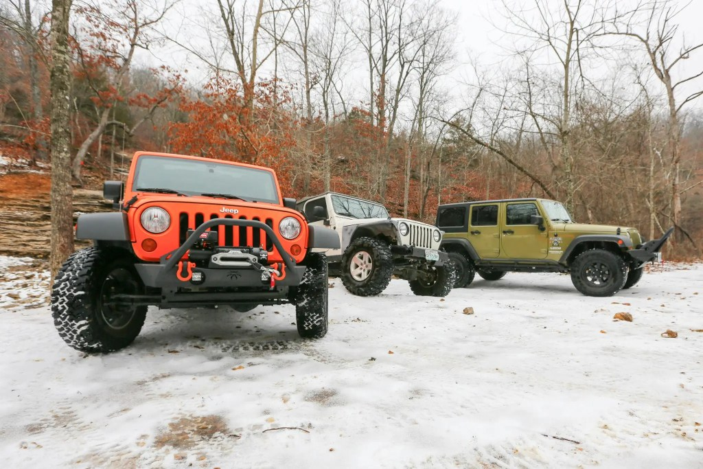 Jeep group at SMORR on New Years Day