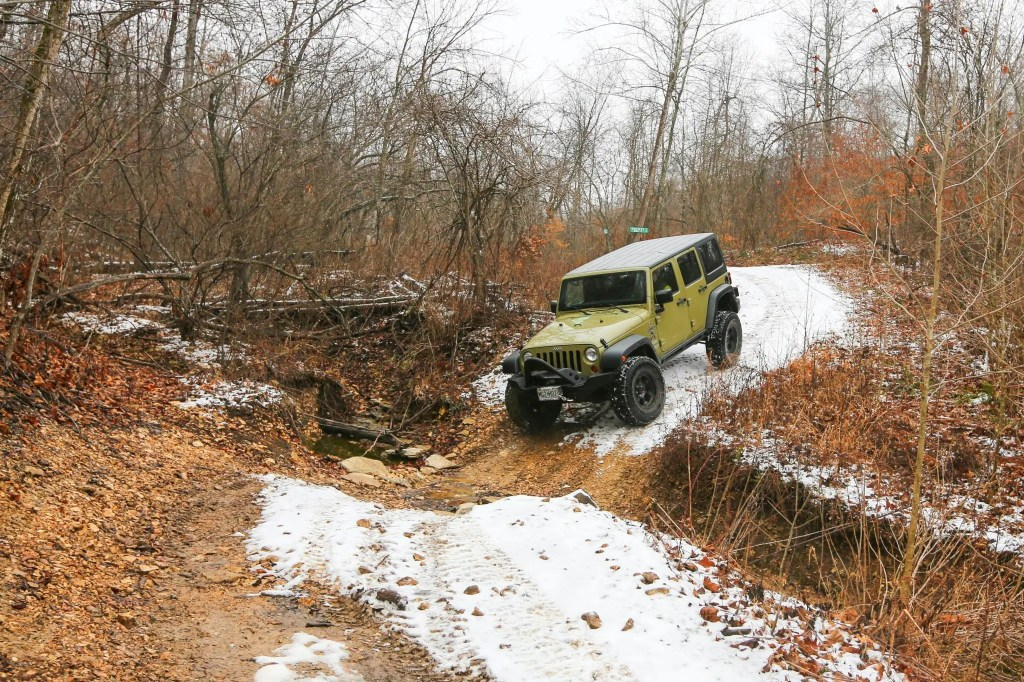 Matt's Jeep on the New Year's Day trail ride.