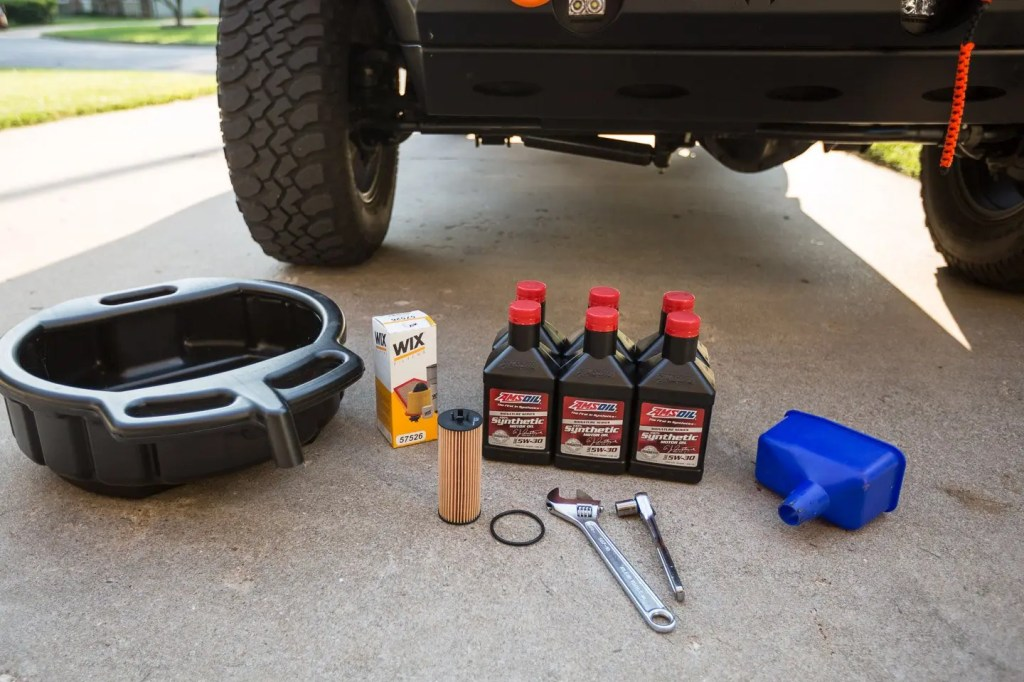 Jeep JK Oil Change Supplies