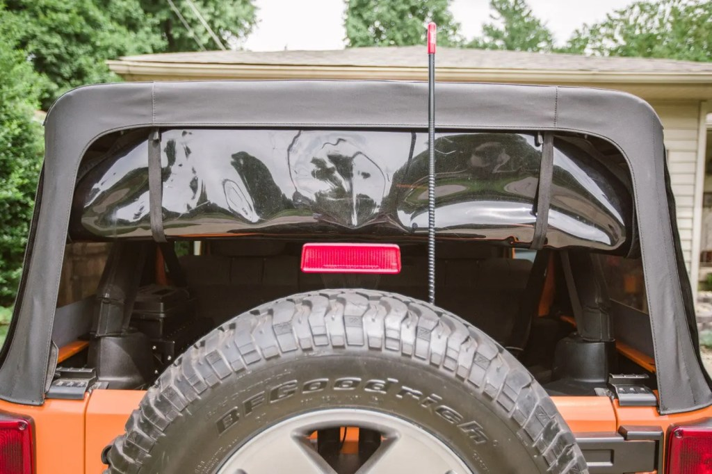 American Outlaw Rear Window Jeep Straps