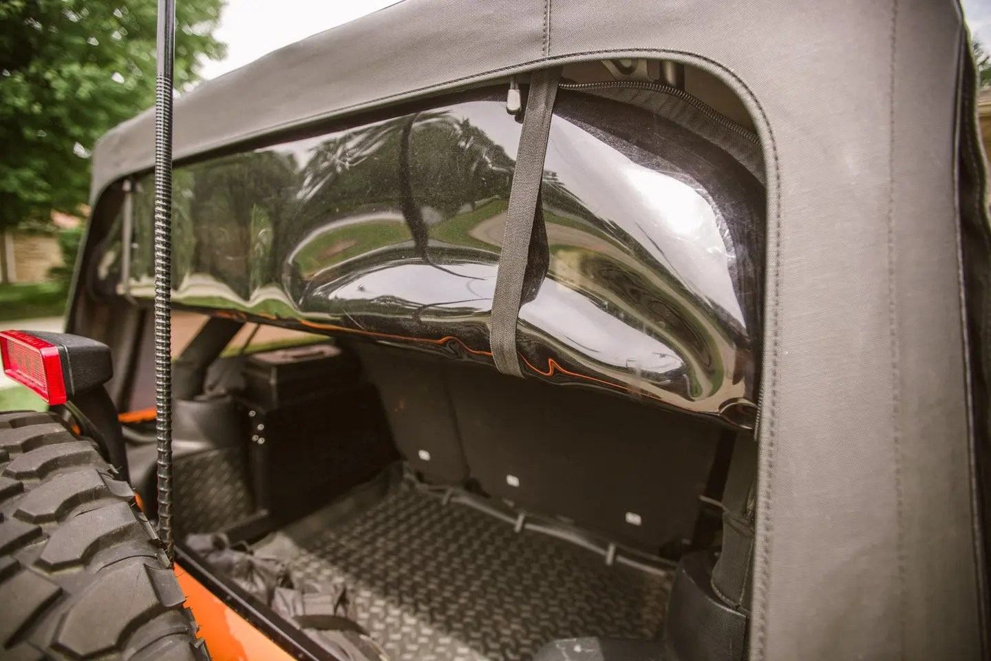 American Outlaw Rear Window Jeep Straps Install After