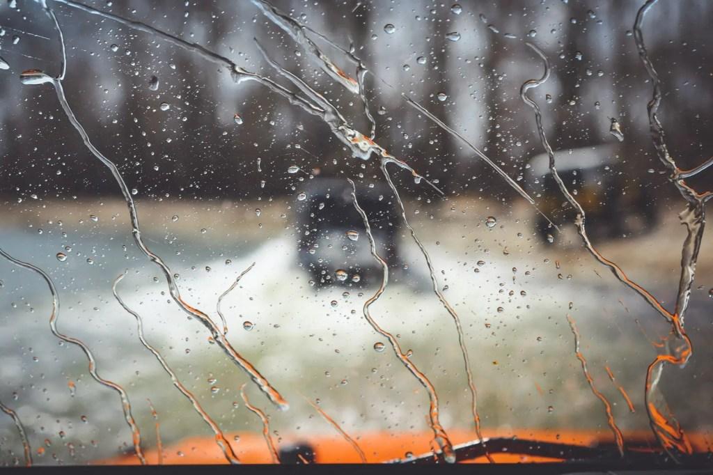Wet windshield in Disney OK