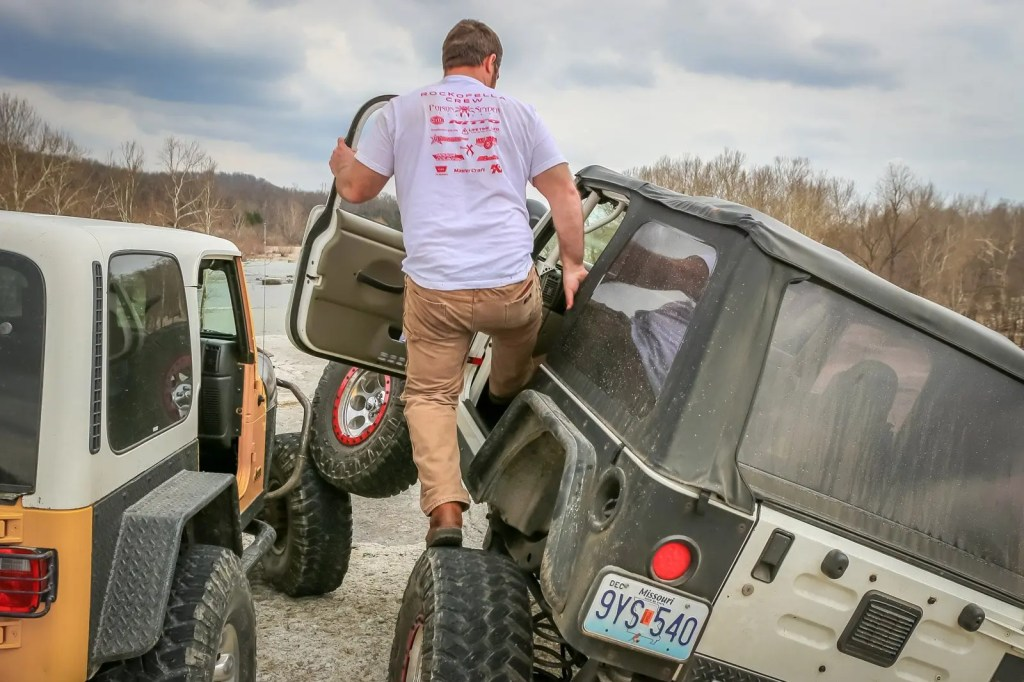 Crawling in a lifted Jeep