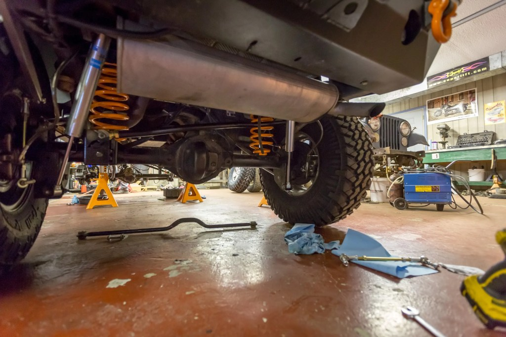 Currie Enterprises suspension system almost complete